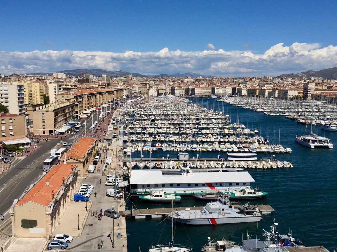 Marseille, the capital of Provence, near French Riviera (France)
