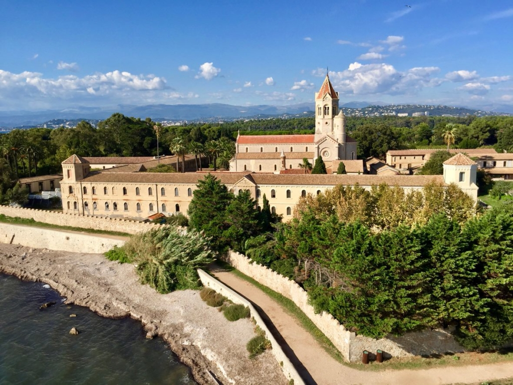 View of the abbey on the Saint Honorat Island
