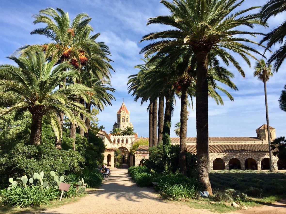 The abbey on the Saint Honorat Island
