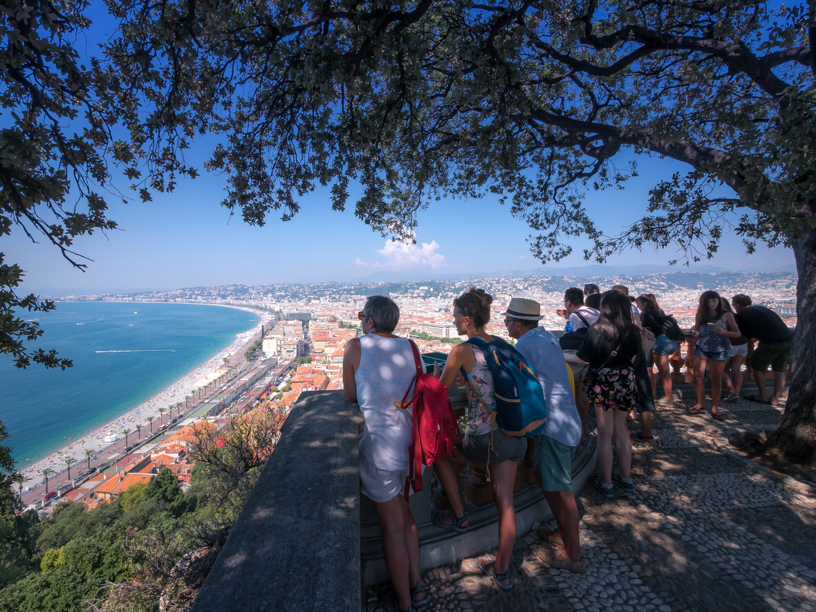 View from the Castle Hill in Nice