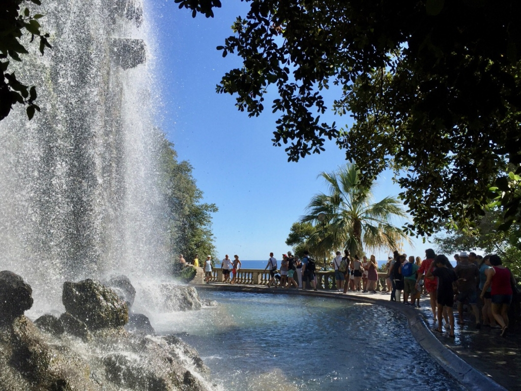 Artificial waterfall on the Castle Hill in Nice