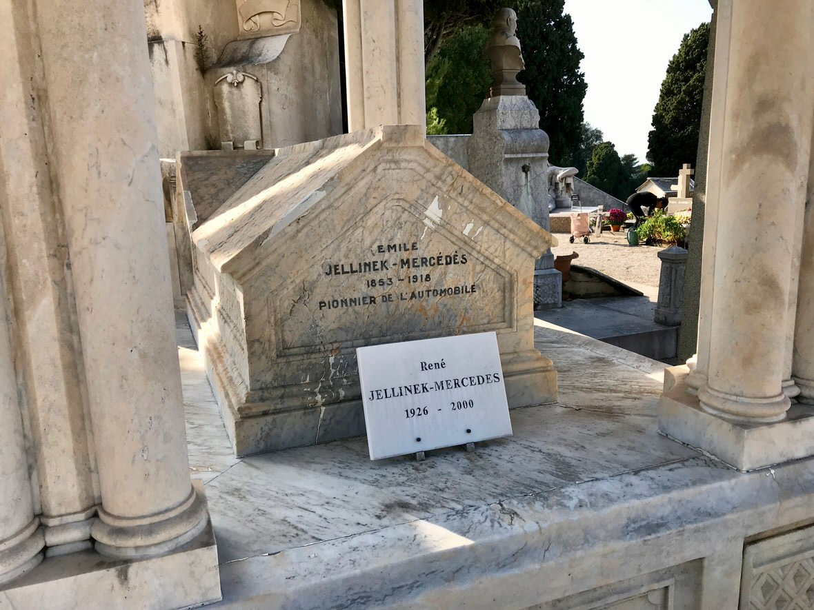 The grave of Emil Jellinek in Nice