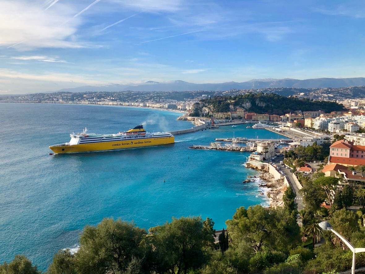 Mont Boron hill in Nice, French Riviera