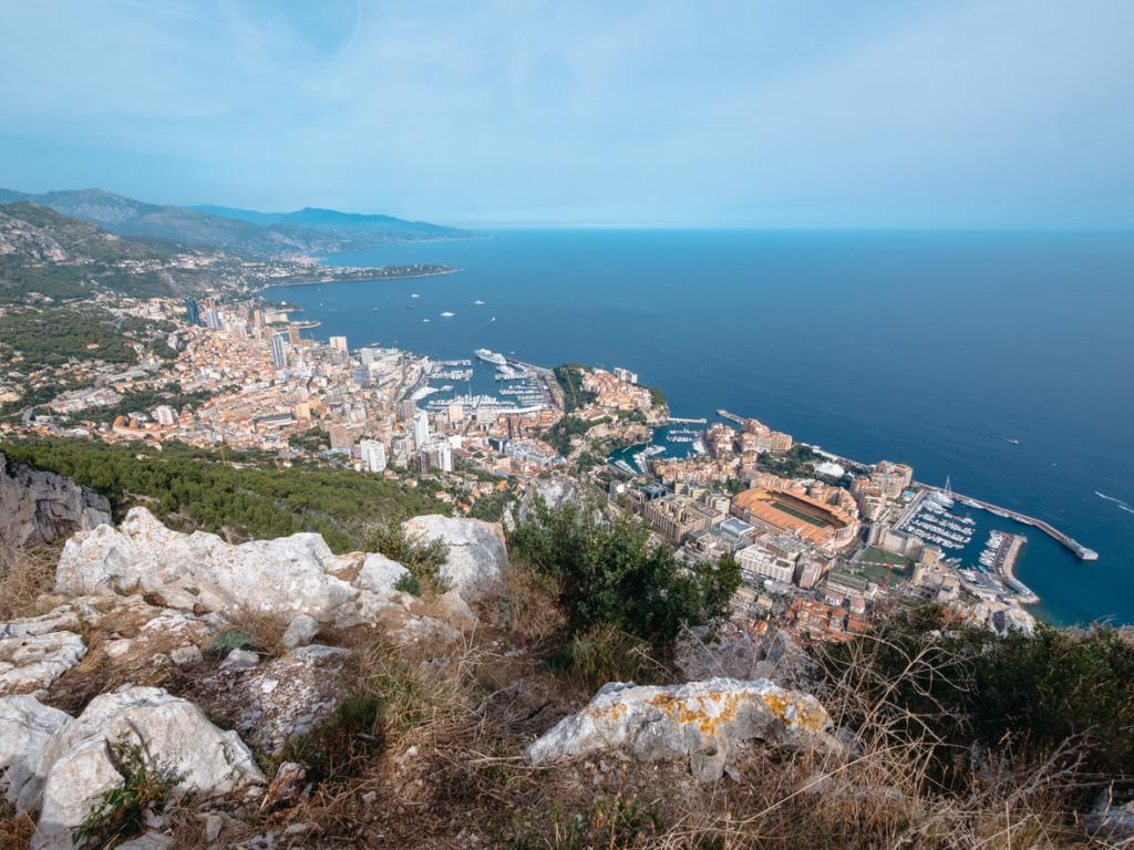 Monaco from Tete de Chien