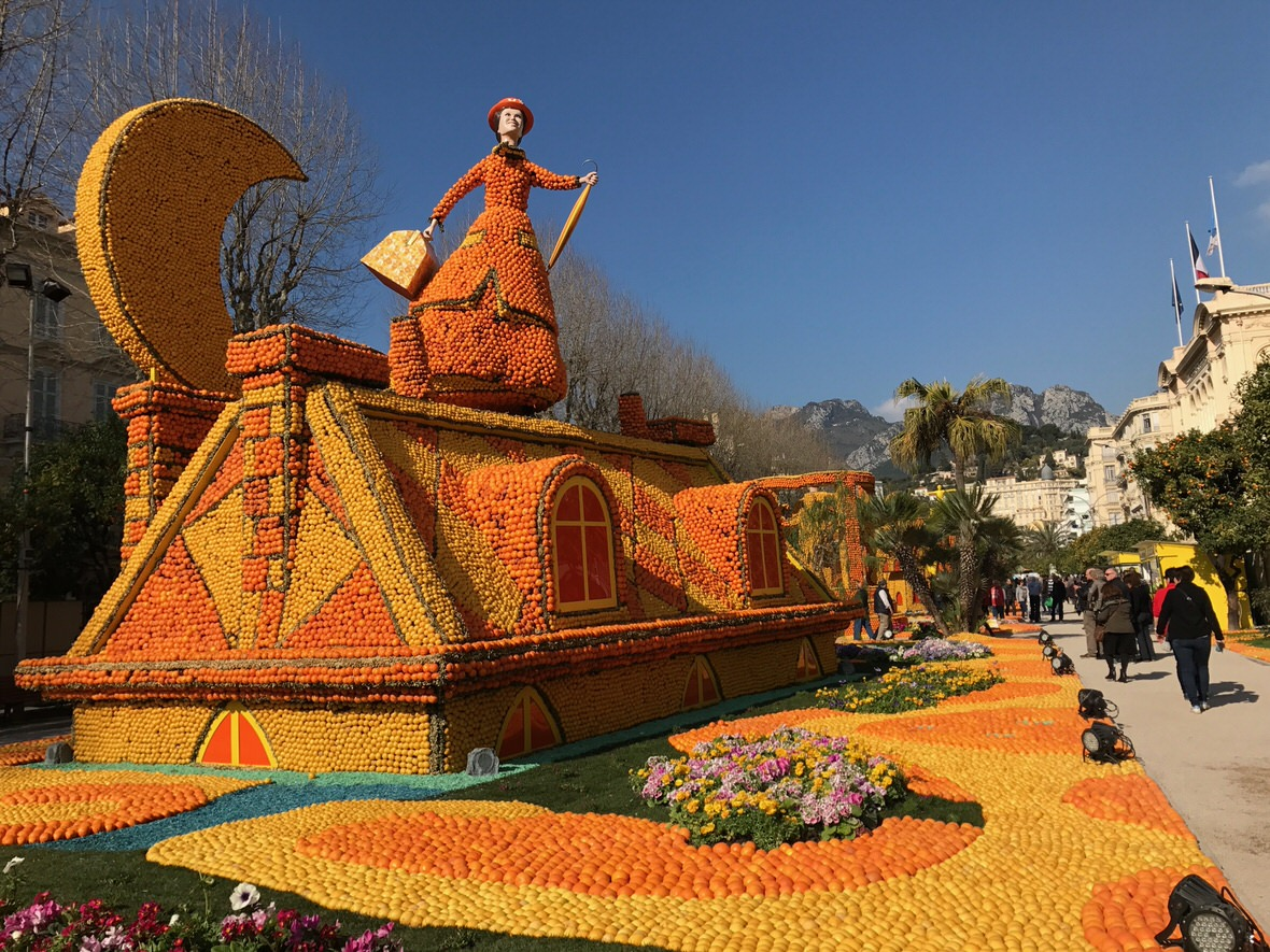 Lemon Festival in Menton, French Riviera