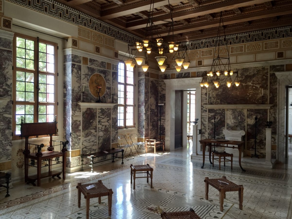 The Greek styled Villa Kerylos in Beaulieu-sur-Mer (French Riviera)