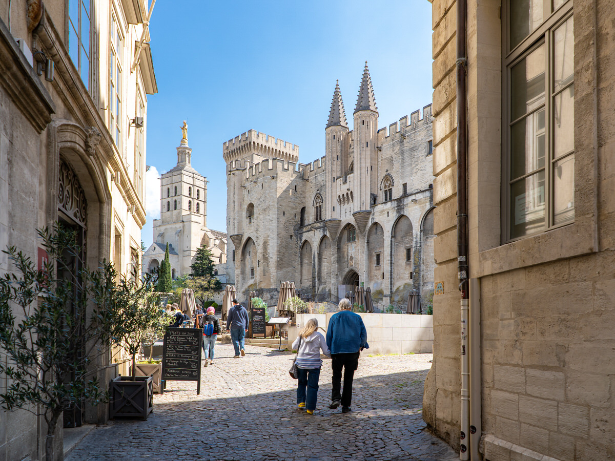 The Papal Palace in Avignon, France